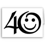 40 anos: eu penso assim sobre a vida!
