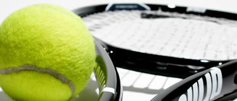 Um jogo de tênis e o meu filho.