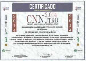 Certificado Nutrologia