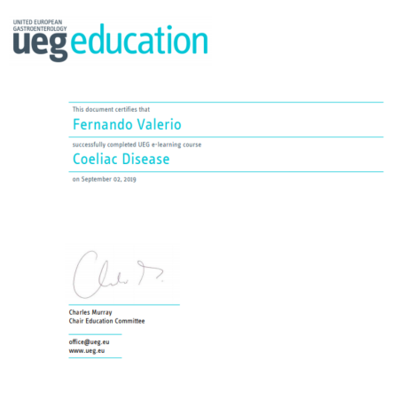 Dr. Fernando Valério: CERTIFICAÇÃO para o diagnóstico de DOENÇA CELÍACA em CRIANÇAS! (United European Gastroenterology e The European Society for Paediatric Gastroenterology Hepatology and Nutrition)<script src=